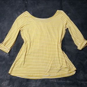 Yellow striped Pima Cotton Top